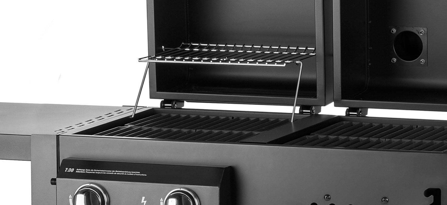 twin grill t30 top aktion kombigrill mit gas und holzkohle von chef centre ebay. Black Bedroom Furniture Sets. Home Design Ideas